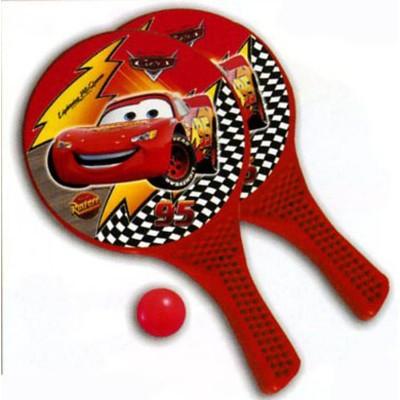 Pálky a míček plážový tenis Cars Auta