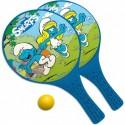 Pálky a míček plážový tenis Šmoulové
