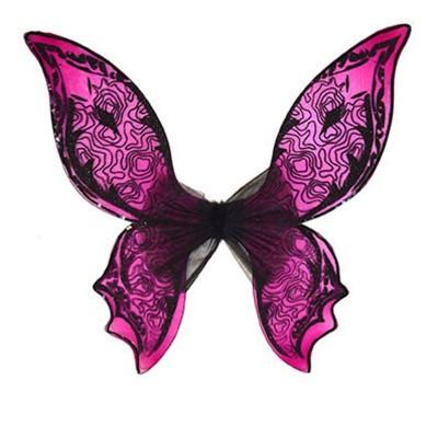 Křídla motýl růžovo černá 78x82cm