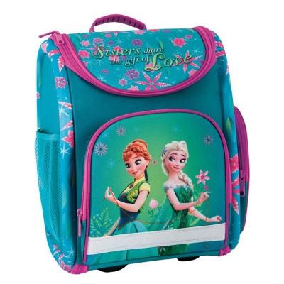 Luxusní školní batoh aktovka Frozen květy i pro prvňáčky