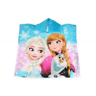 Dětské pončo osuška modrá Frozen - Ledové království