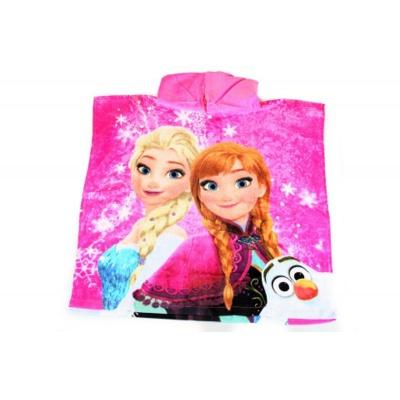 Dětské pončo osuška růžová Frozen - Ledové království