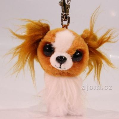 Přívěšek - Plyšový pes TY - s velkýma očima