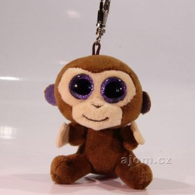 Přívěšek - Plyšová opička TY - s velkýma očima