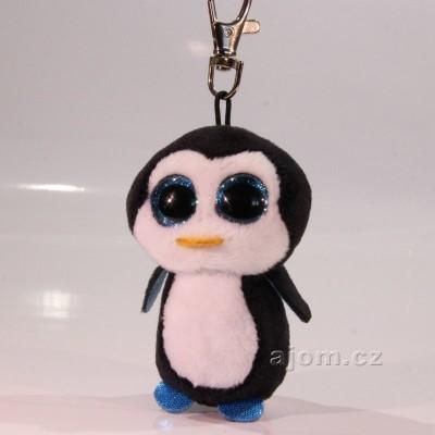 Přívěšek - Plyšový tučňák TY - s velkýma očima