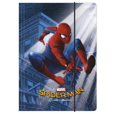 Desky s gumou složka na sešity A4 Spiderman