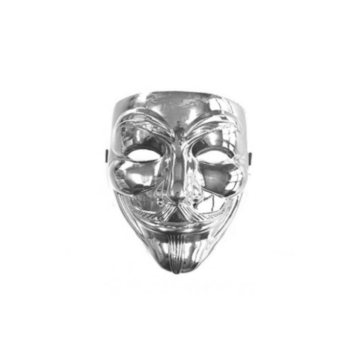 Maska Anonymous - stříbrná