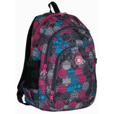 Studentský batoh dvoukomorový - Mozaika