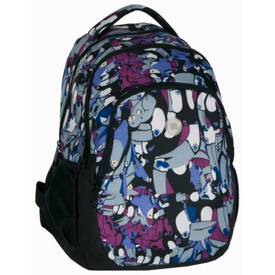 Studentský batoh dvoukomorový Multicolour