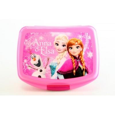 Svačinový box krabička na oběd Frozen Ledové království - růžová