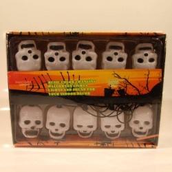 Girlanda svítící halloween - lebky