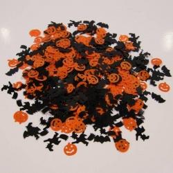 Párty konfety Halloween - dýně, netopýr, čarodějnice