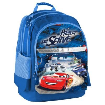 Školní batoh dvoukomorový Cars - Auta 100e2d17c9