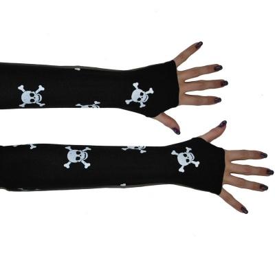 Návleky na ruce - rukavice - lebky