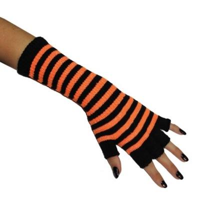 Návleky na ruce - rukavice - oranžové