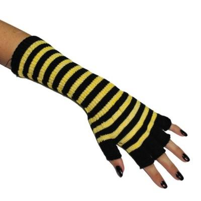 Návleky na ruce - rukavice - žluté