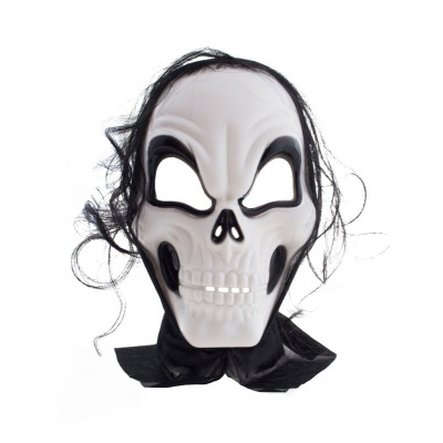 Maska lebka s vlasama