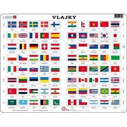 Puzzle Larsen - Vlajky světa
