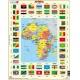 Puzzle Larsen - Mapa Afriky + vlajky