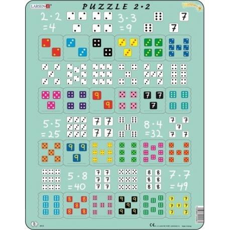 Puzzle Larsen - Násobení s kostkami