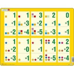 Puzzle Larsen - Malé sčítání 1-5