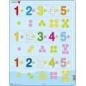 Puzzle Larsen - Čísla 1-5 s grafickými znaky