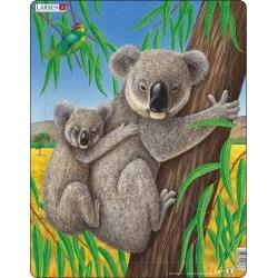 Puzzle Larsen - Medvídek Koala s mládětem