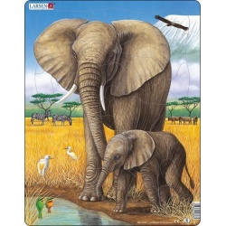 Puzzle Larsen - Slon + slůně