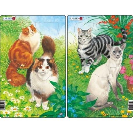 Puzzle Larsen - sada 2ks - kočky