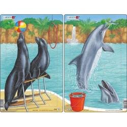 Puzzle Larsen - sada 2ks - lachtani,delfíni