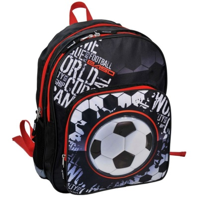 Školní batoh dvoukomorový Fotball