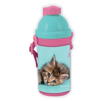 Plastová láhev 500ml Kočka
