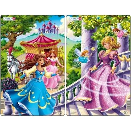 Puzzle Larsen - sada 2ks - princezny