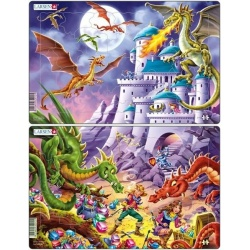 Puzzle Larsen - sada 2 ks - draci