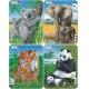 Puzzle Larsen - sada 4ks - koala,slon,tygr,panda