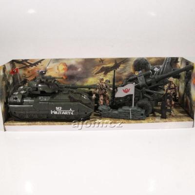 Sada - vojenský tank s dělem