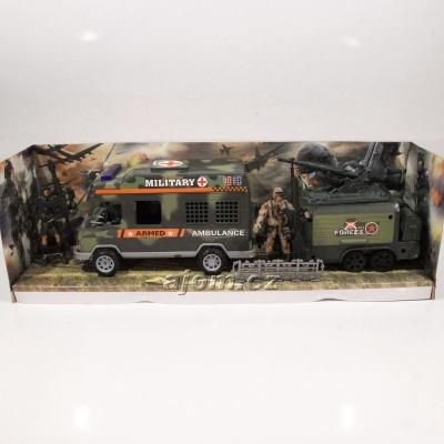 Sada - vojenská ambulance s vojáky