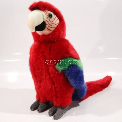 Plyšový Papoušek - červený