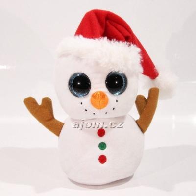 Plyšový vánoční sněhulák TY - s velkýma očima