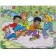 Puzzle Larsen - Děti si hrajou - koloběžka