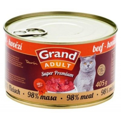 GRAND SuperPremium Hovězí CAT 405g