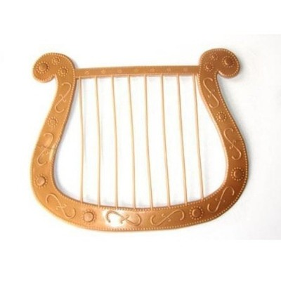 Harfa anděl - zlatá
