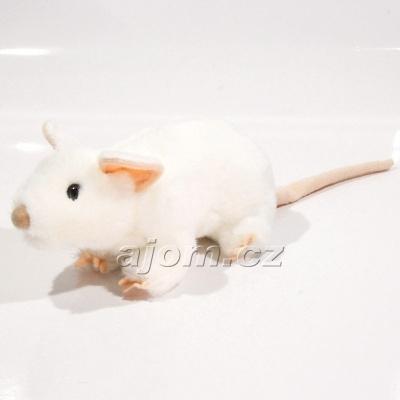 Plyšová Krysa - bílá