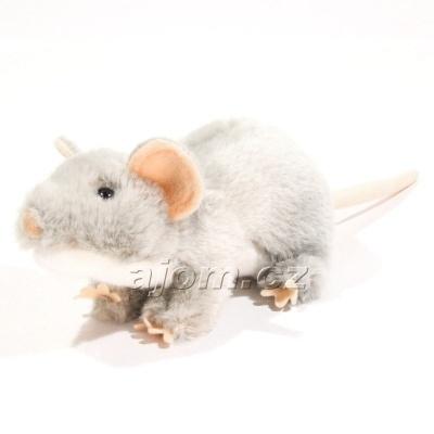 Plyšová Krysa - šedá