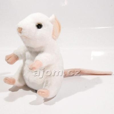Plyšová Myška - bílá