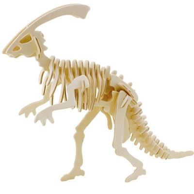 Dřevěné puzzle 3D skládačka Parasaurolphus