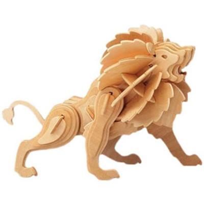 Dřevěné puzzle 3D skládačka Lev