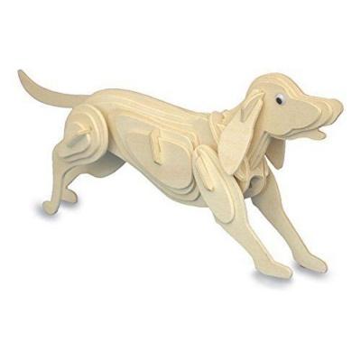 Dřevěné puzzle 3D skládačka Pes