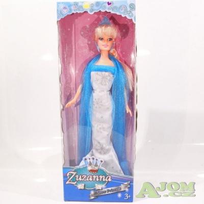 Panenka Ledová princezna 30cm stříbrná