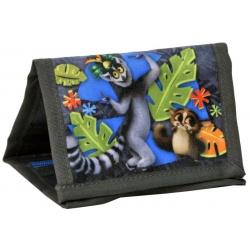 Textilní peněženka se šnůrkou King Julien - Král Jelimán